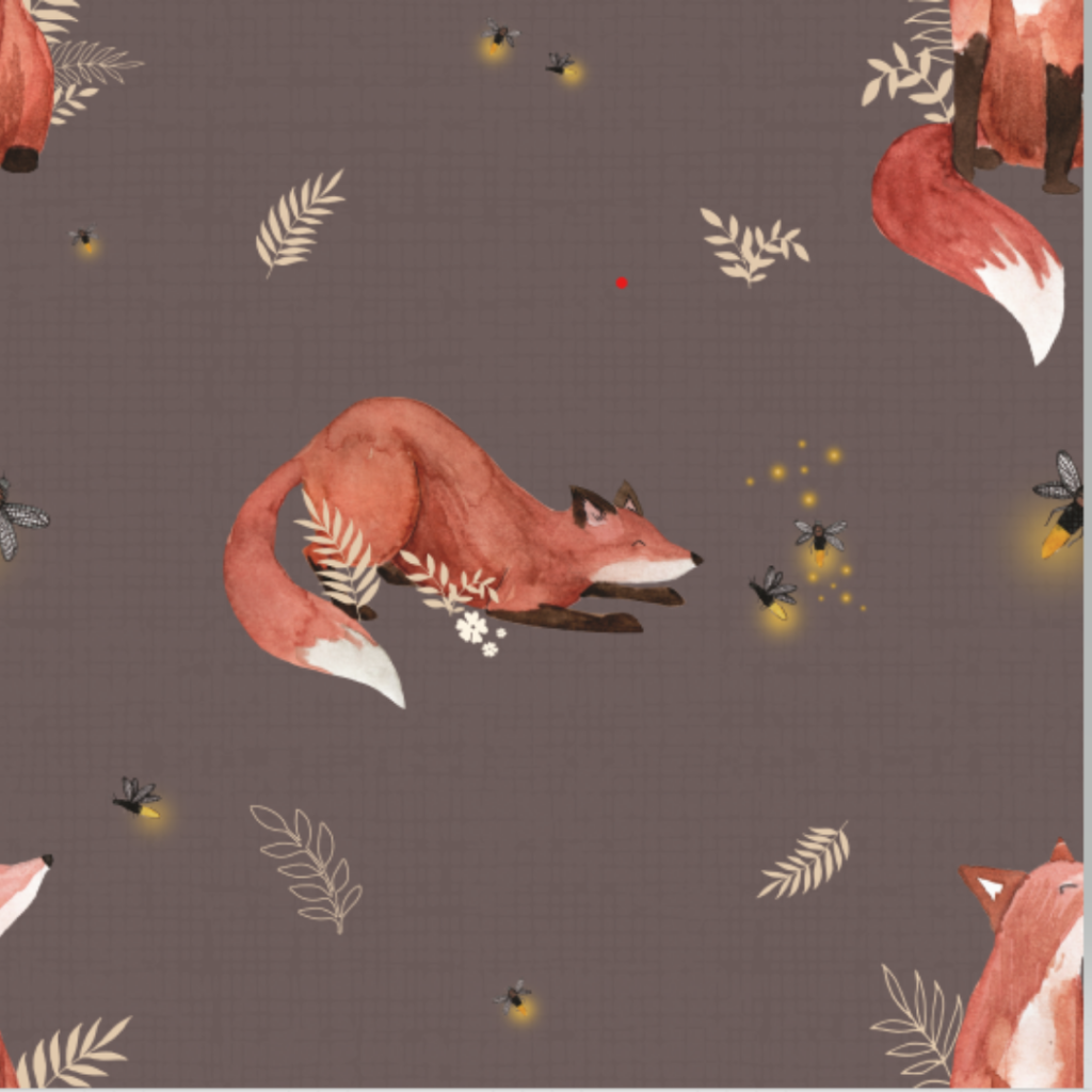 fox and fireflies exclusive fabric