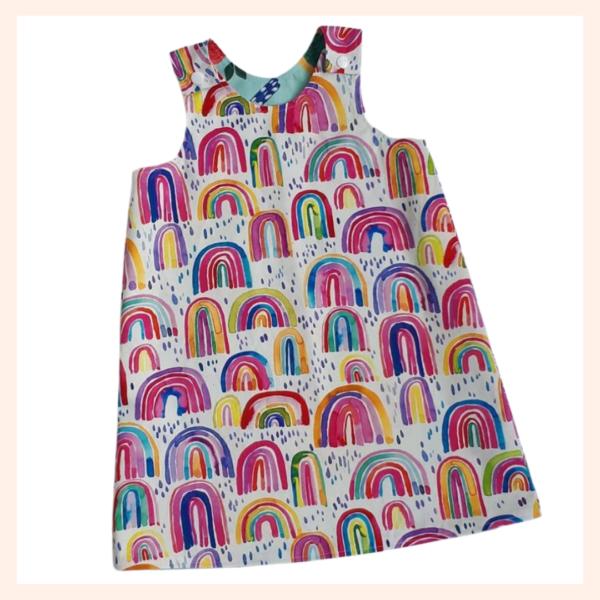 Rainbows Bright pinafore dress