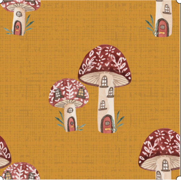 Mushroom houses mid weight cotton