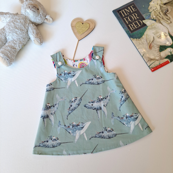 whales and narwhals dress