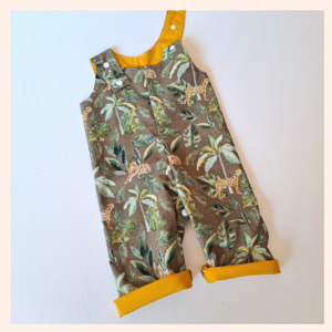 jungle party overalls
